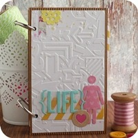 31 - sizzix big shot - scrapbooking mini album - fustelle