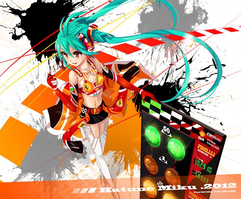 Hatune Miku 2012 Vocaloid Ferrari Pirelli by pondel