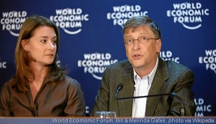 Melinda French Gates, Bill Gates - World Economic Forum Annual Meeting Davos 2009