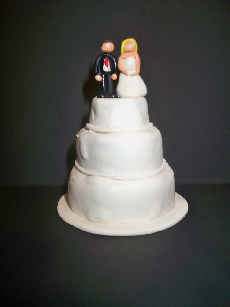 Mini Polymer Clay Wedding Cake