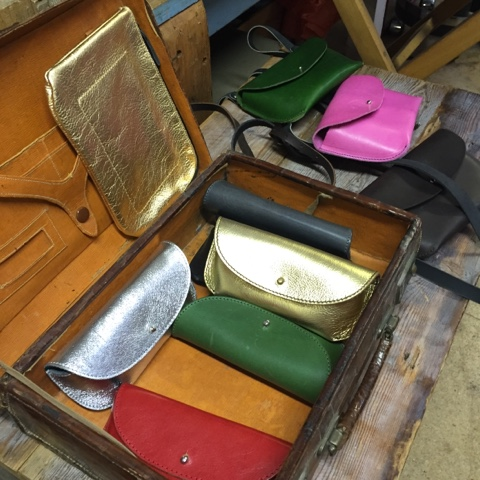 Leather purses by Wolfram Lohr
