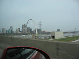 The St Louis Arch as we're driving into St Louis 03192011c
