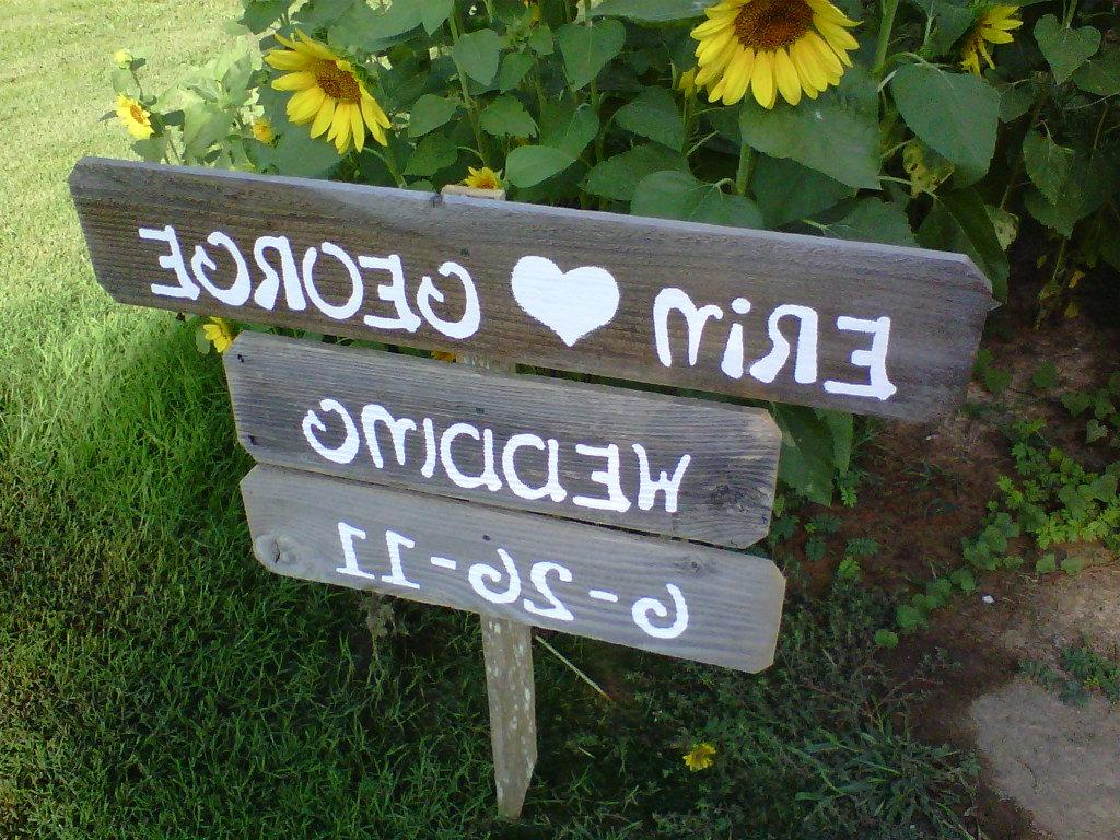 Hand Painted Wedding Signs.