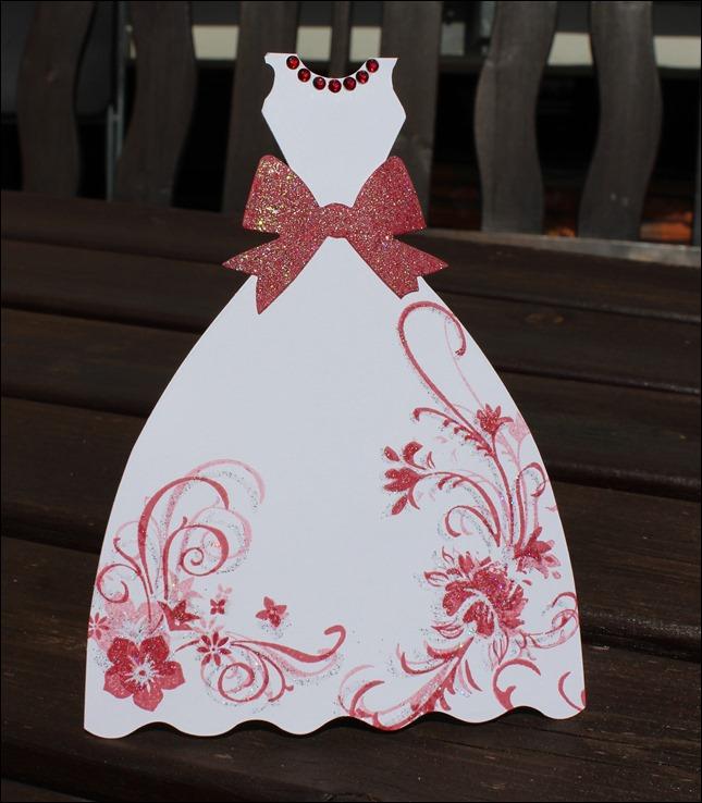 Hochzeitskarte Brautkleid Frack 03