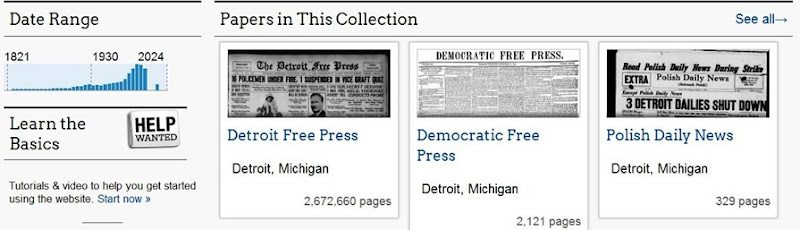 Detroit free press papers in collection