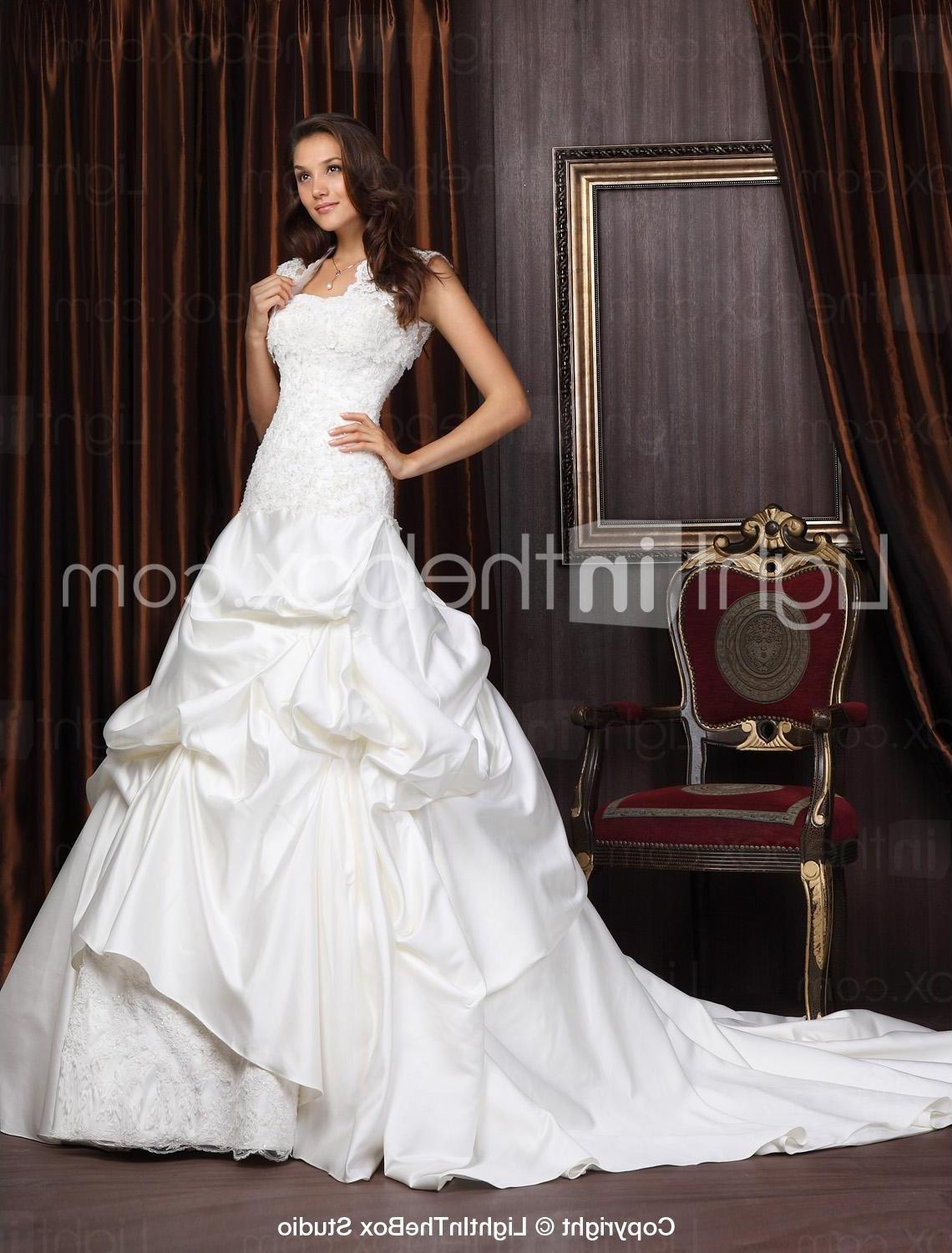 Satin Lace Wedding Dress