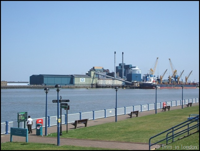 A View of the Tate and Lyle factory from the Thames Barrier