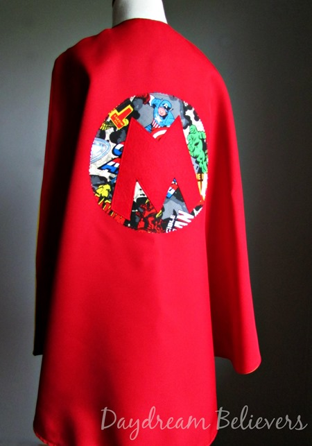 Personalized Superhero Dress Up Cape for Boys and Girls Fully Lined Handcrafted in the USA by Daydream Believers Designs