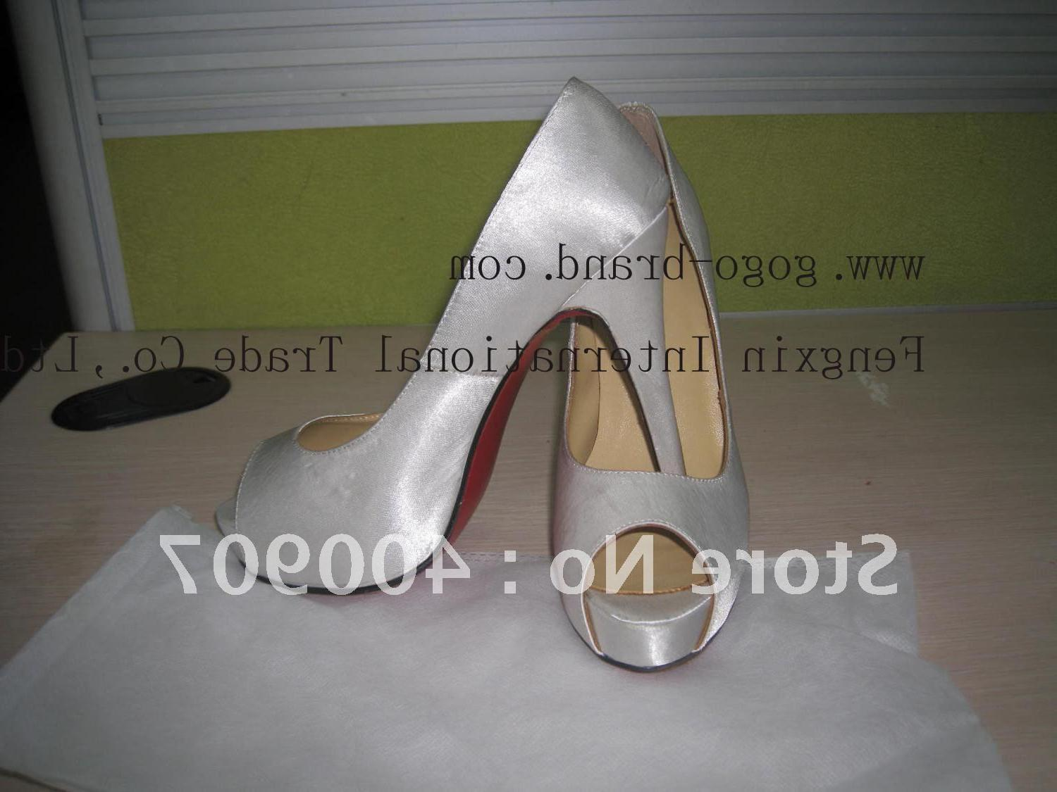 cheap silver wedding shoes
