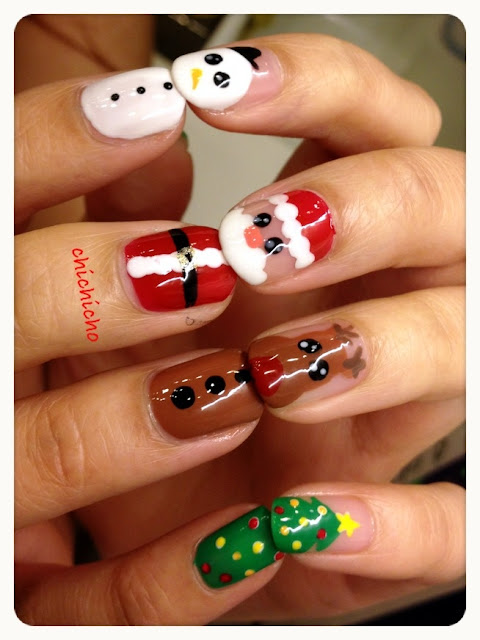 Video: Santa, Rudolph and Frosty Nails!