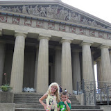 Hannah and Bryan in front of the Parthenon replica in Nashville TN 09032011