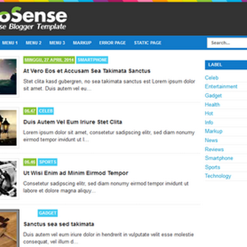 Brosense Responsive Blogger Template Full SEO for Adsense