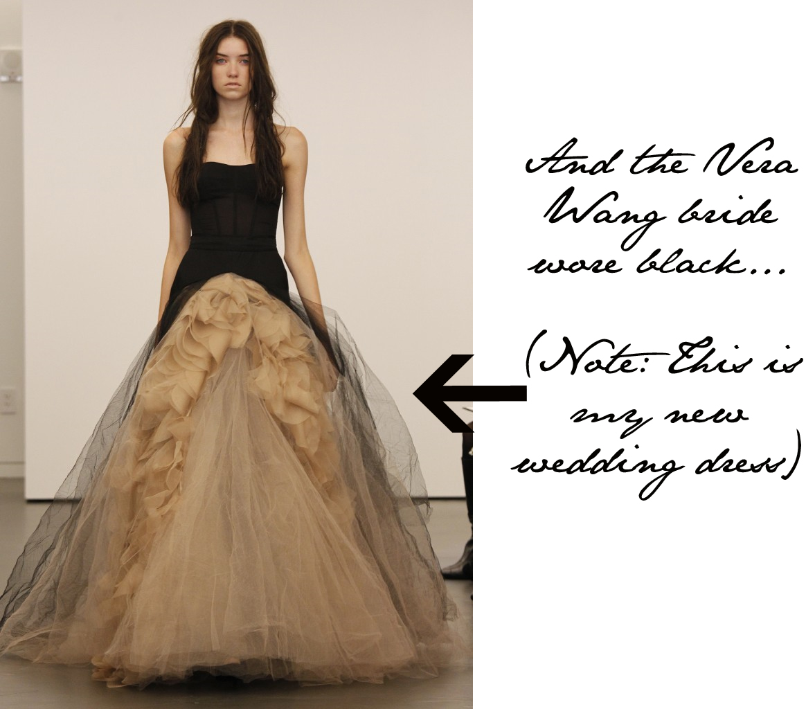 black wedding gowns at