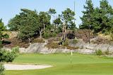 De golfbaan.
