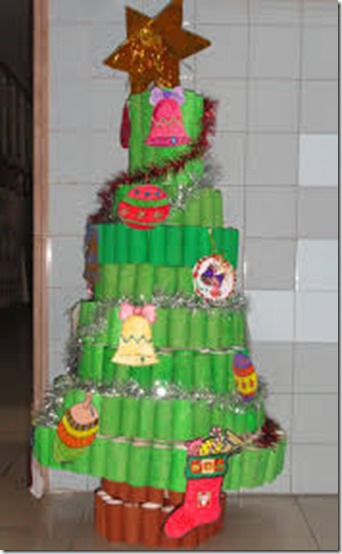 Manualidades Arbol Navidad Con Tubo De Higienico - Manualidad-arbol-navidad
