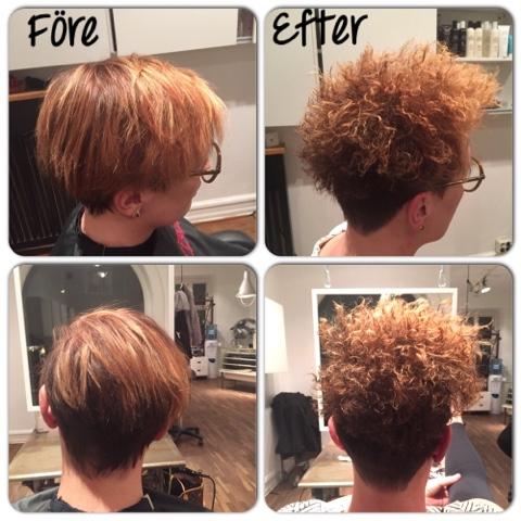 kort hår med permanent