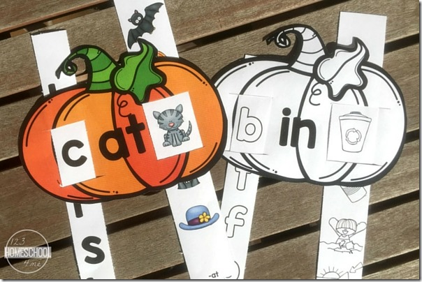 Print these beautiful and free fall word family slides in either color or black and white!