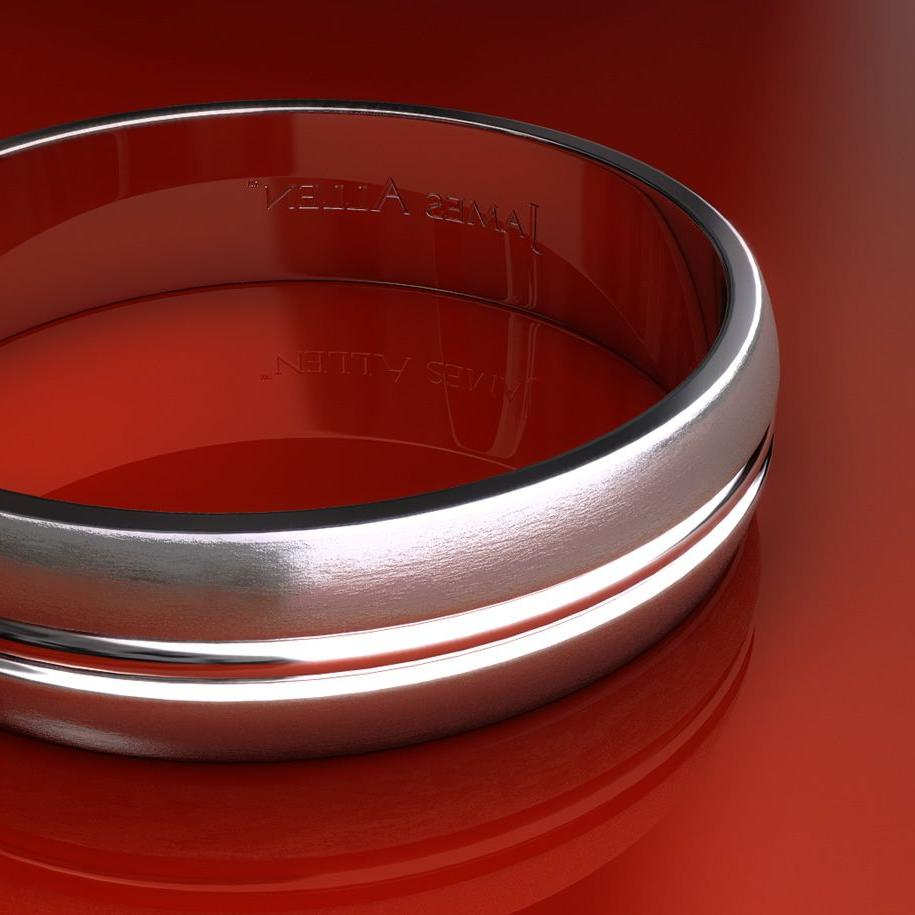 Wedding Rings:This satin finished 6mm carved design band features strong