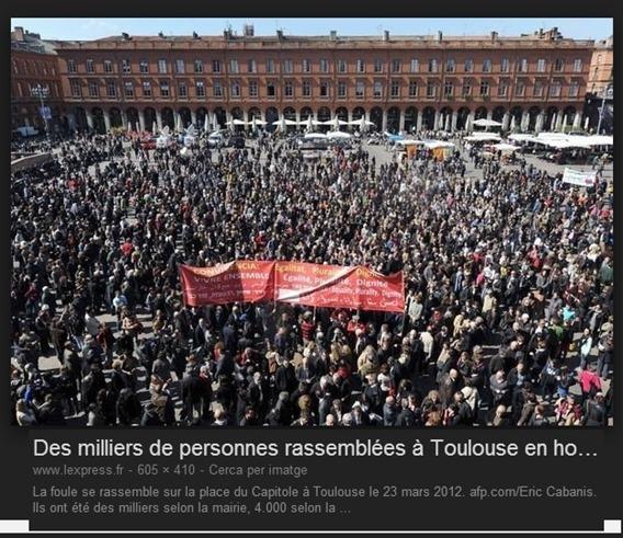 Manifestacion de protestacion per la convivència a Tolosa