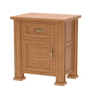 Hagen Nightstand with Doors