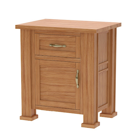 Hagen Nightstand with Door, Manor Hickory