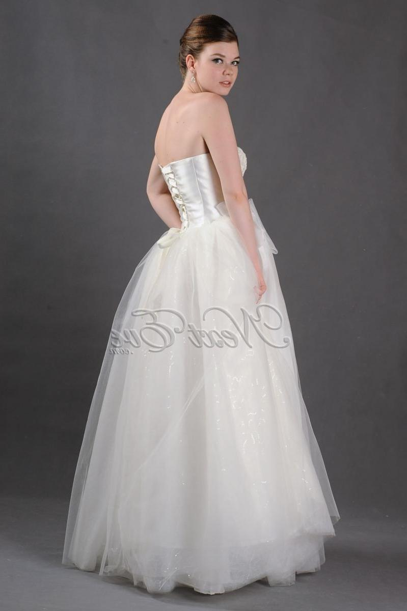 Classic White Ball Gown Style Wedding Dress with Corset Back