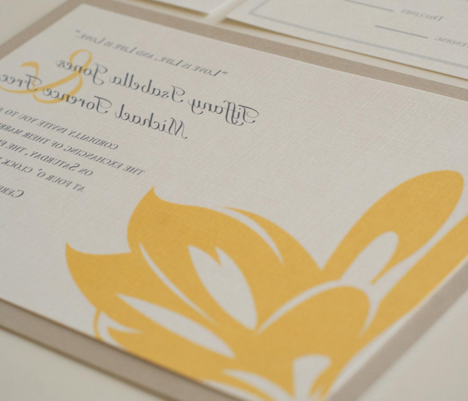 Simple Blossom Layered Custom Invitation SAMPLE - Wedding, Bat Mitzvah,