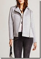 Mint Velvet soft grey jersey biker jacket