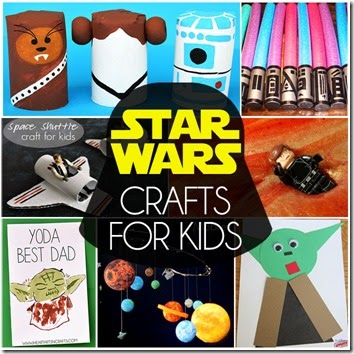 Star Wars crafts for kids - lots of really, fun clever ideas for kids of all ages. Awesome spring kids activities