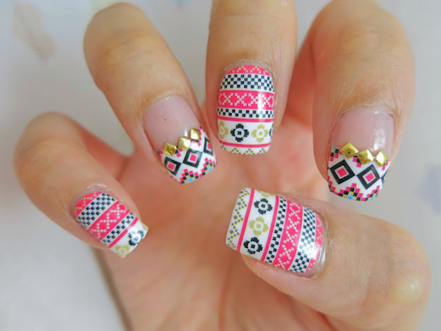 Tribal Print Nail Art Nail Wrap D1003 - chichicho~