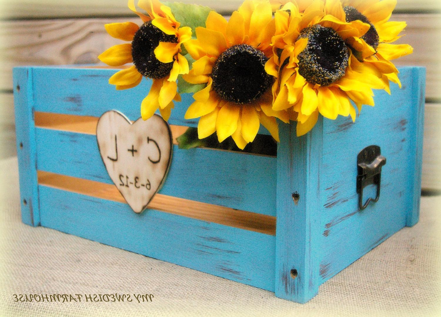 Personalized Wedding Card Box Program Crate Rustic Wedding Decor  YOUR COLOR