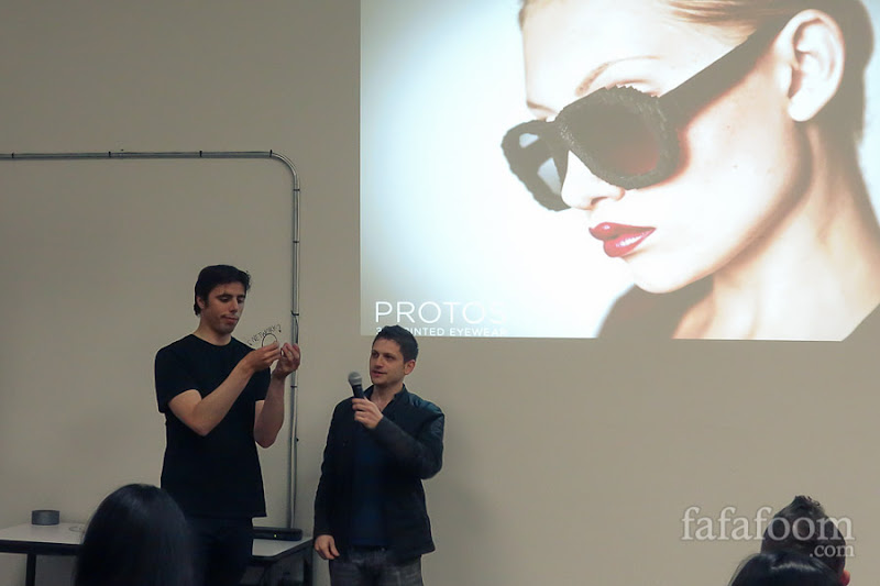 Mark and John demonstrating strength and flexibility of Protos Eyewear