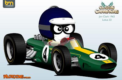 Джим Кларк 1965 Lotus 33 pilotoons