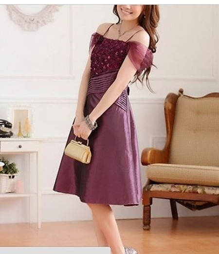 Purple Lace Plus-sized cocktail dress