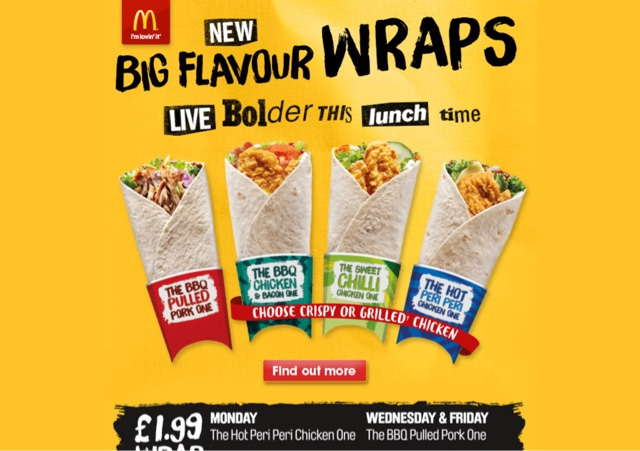 McDonald's Big Flavour Wraps