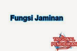 Fungsi Jaminan