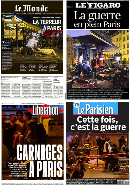 Le Monde, Le Figaro, Libération e Le Parisien (Foto: Divulgação)