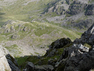 "The ""long drop"" from Long Crag"