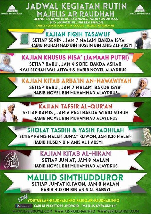 Kajian Islam Rutin Majelis Ar-Raudhah Solo