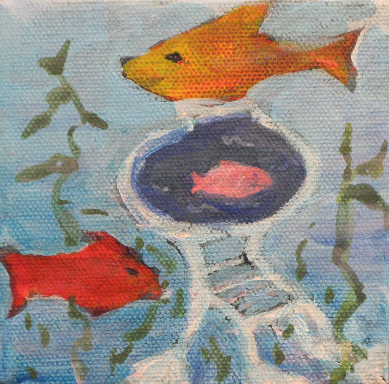 """Underwater Chair"" Acrylic"