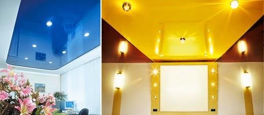 Натяжные потолки и новые интерьеры