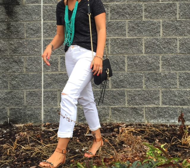 white after labor day, how to wear boyfriend jeans, boho chic, fashion rules