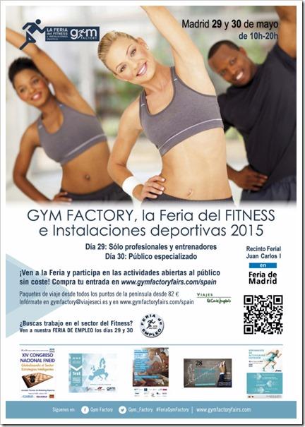 GYM FACTORY 2015 La Feria del Fitness e Instalaciones Deportivas ya calienta motores.