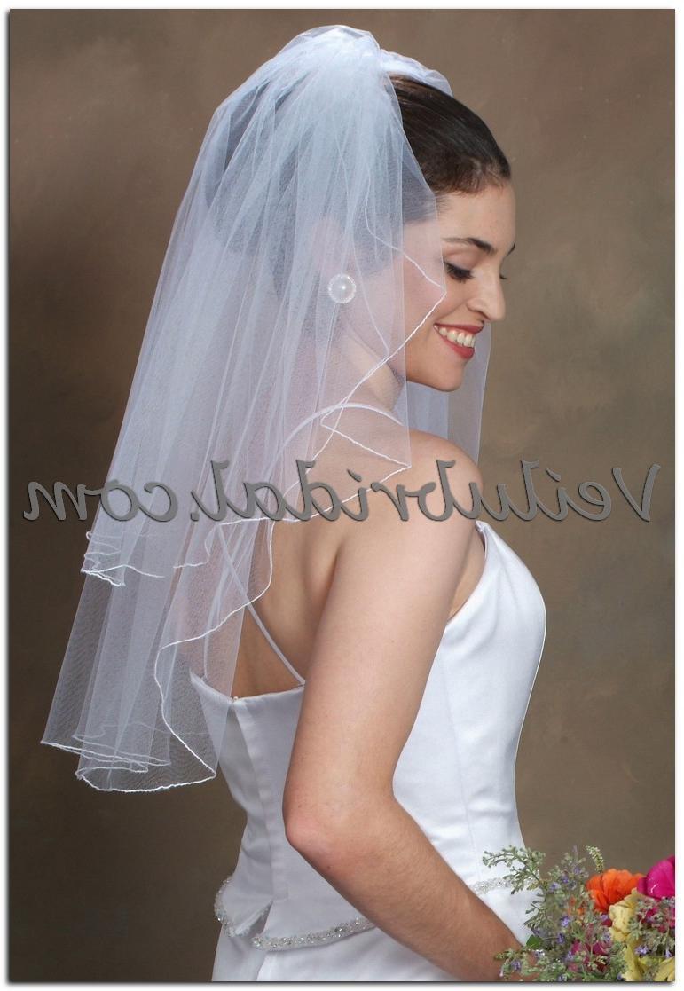 2 Tier Shoulder length Bridal