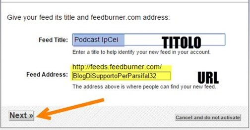 TITOLO-URL-FEED