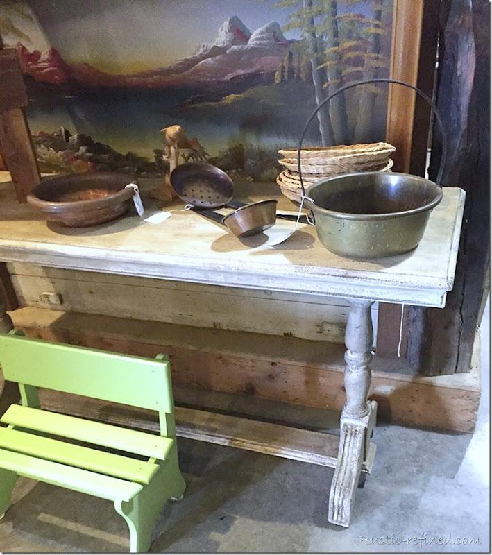 white-antique-farm-table
