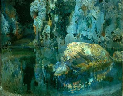 Joaquim Mir - The Rock in the Pond (circa 1903)
