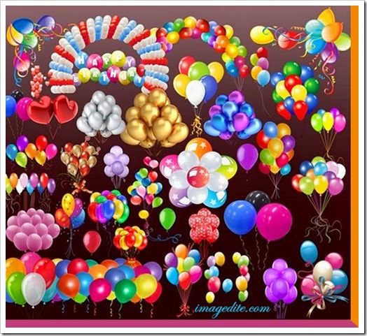 Colourful birthday ballon