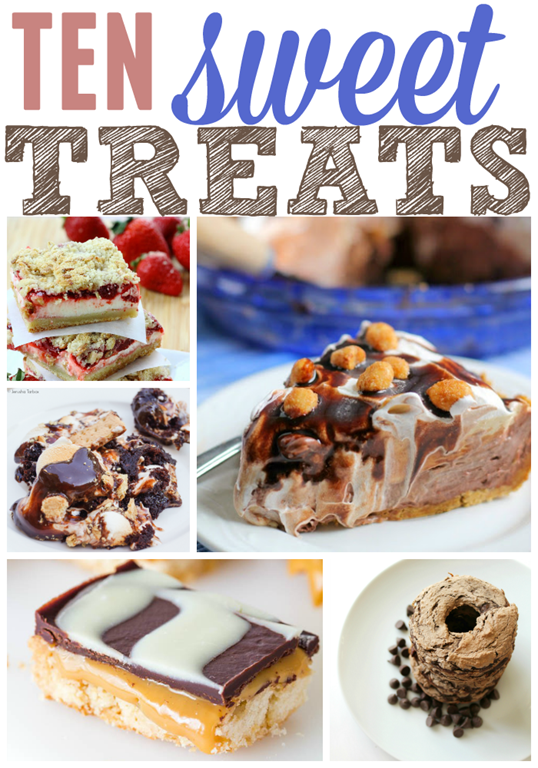10 Sweet Treats at GingerSnapCrafts.com #linkparty #features