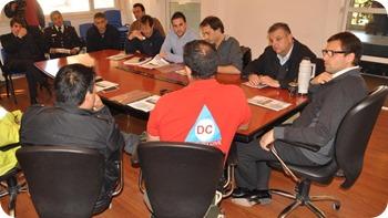 Fuerzas preventivas y de seguridad realizaron una reunión con el intendente de La Costa